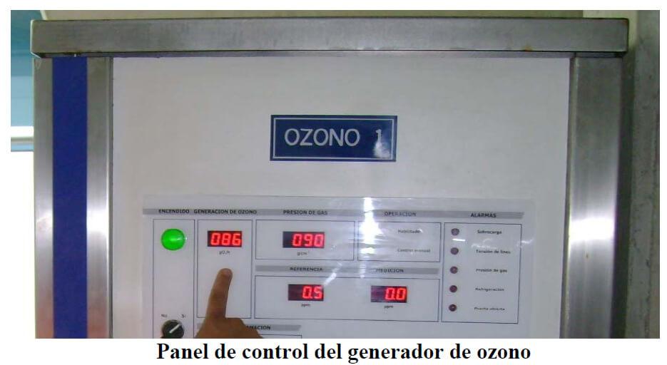 panel control ozono